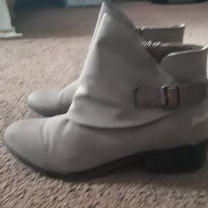 11 Blowfish suede ankle boots.